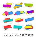 collection of colorful pop art... | Shutterstock .eps vector #557285299