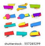 collection of pop art comic... | Shutterstock .eps vector #557285299