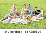 active large family of six... | Shutterstock . vector #557285809