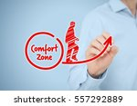 leave your comfort zone ... | Shutterstock . vector #557292889