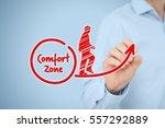 leave your comfort zone ... | Shutterstock . vector #557292889