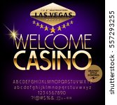 vector casino sign welcome... | Shutterstock .eps vector #557293255