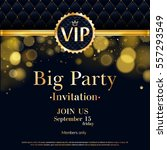 vip party premium invitation... | Shutterstock .eps vector #557293549