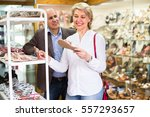happy smiling mature spouses... | Shutterstock . vector #557293657