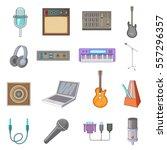 recording studio icons set....   Shutterstock .eps vector #557296357