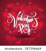 valentine's day lettering on...   Shutterstock .eps vector #557296669