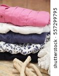 stack of clothes  stack of... | Shutterstock . vector #557299795