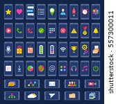 set of small colorful icons for ...