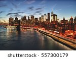 view of lower manhattan with... | Shutterstock . vector #557300179