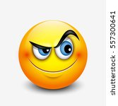 cute curious emoticon  emoji  ... | Shutterstock .eps vector #557300641