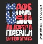 vintage denim typography ... | Shutterstock .eps vector #557303875