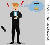 businessman character   in a... | Shutterstock .eps vector #557304229