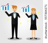 business man and woman... | Shutterstock .eps vector #557304271