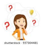 caucasian woman having business ... | Shutterstock .eps vector #557304481