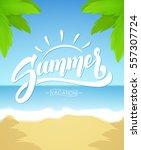 vector illustration  brush... | Shutterstock .eps vector #557307724