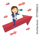business woman searching for... | Shutterstock .eps vector #557308621