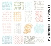 vector set of grungy hand drawn ... | Shutterstock .eps vector #557308855