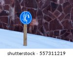 Sign On Chairlift Nailed To A...