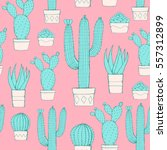 cactus and succulent seamless... | Shutterstock .eps vector #557312899