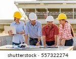 multi ethnic group of engineers ... | Shutterstock . vector #557322274