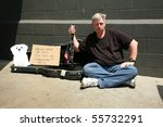 A Young Man Plays Music For...