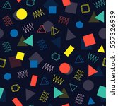 retro memphis geometric line...   Shutterstock .eps vector #557326939