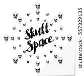 Authentic Logo Lettering Skull...