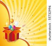gift box celebration design... | Shutterstock .eps vector #55732996