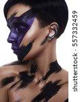 fashion beauty model with art... | Shutterstock . vector #557332459