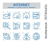 doodle vector line icons set of ...   Shutterstock .eps vector #557341651