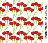 carnation seamless pattern.... | Shutterstock .eps vector #557342587