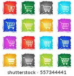 shopping cart web icons in... | Shutterstock .eps vector #557344441