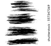 black ink vector brush strokes... | Shutterstock .eps vector #557347369