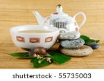 green tea cup and snail | Shutterstock . vector #55735003