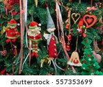 closeup fabric decorative items ...   Shutterstock . vector #557353699