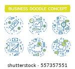 doodle vector illustrations of... | Shutterstock .eps vector #557357551