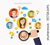 employee search flat design... | Shutterstock .eps vector #557361691
