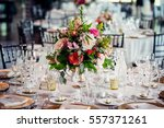 wedding hall before dinner | Shutterstock . vector #557371261