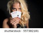 flirty and seductive woman... | Shutterstock . vector #557382181
