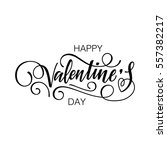 happy valentine's day vector... | Shutterstock .eps vector #557382217