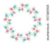 vector floral background.... | Shutterstock .eps vector #557385505