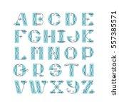 vector elegant retro graphical... | Shutterstock .eps vector #557385571
