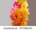 acrylic colors and ink in water.... | Shutterstock . vector #557386291