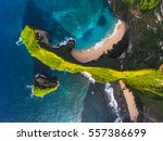 aerial shot of the tropical... | Shutterstock . vector #557386699