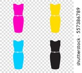 dress sign illustration. cmyk...