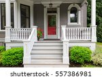 the front porch of a... | Shutterstock . vector #557386981