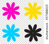 flower sign illustration. cmyk...