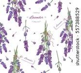 Vector Lavender Flower Seamles...