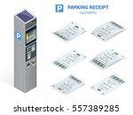 isometric set of parking... | Shutterstock .eps vector #557389285