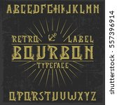 handcrafted 'bourbon' label... | Shutterstock .eps vector #557396914